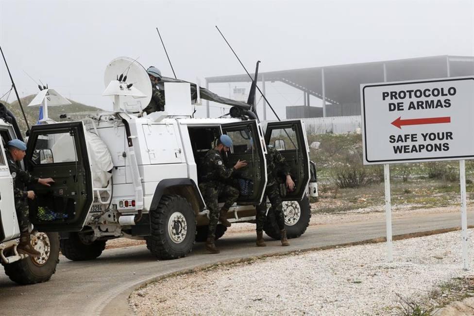 Una patrulla española regresa a la base Miguel de Cervantes en Marjayoun