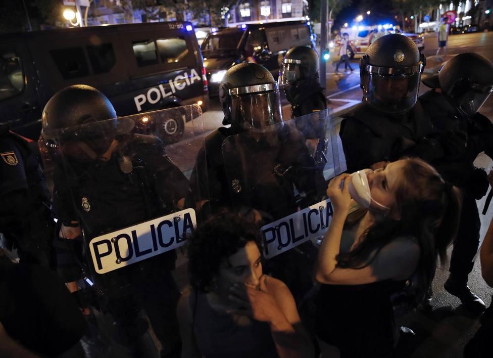 Un detenido en Madrid por los incidentes de la extrema izquierda tras la concentración de apoyo a Samuel