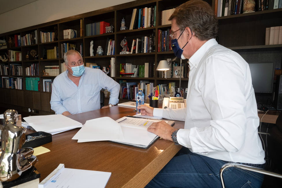 El alcalde de O Vicedo se reúne con el presidente de la Xunta, Alberto Núñez Feijóo