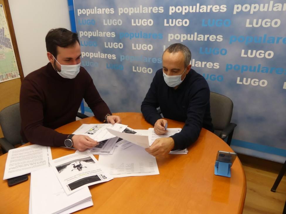 Carballo y Antonio Ameijide durante una reunión