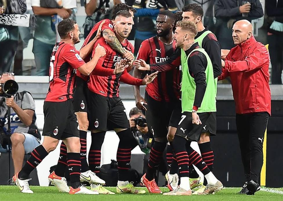 Los jugadores del Milan