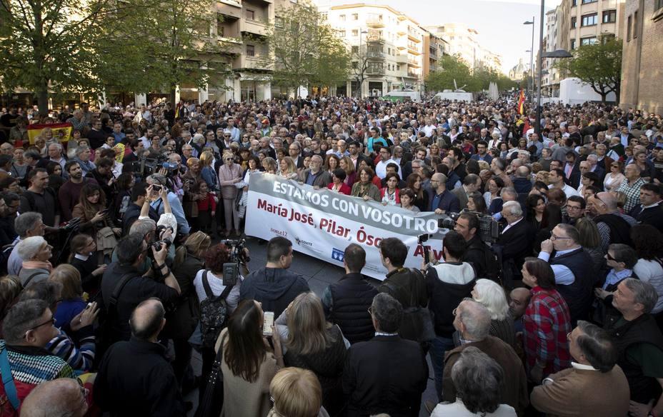 Miles de personas piden en Pamplona justicia y muestran su apoyo a los agredidos en Alsasua