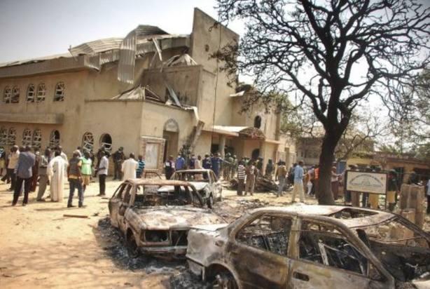 Ataque a una iglesia en Nigeria. Foto Archivo