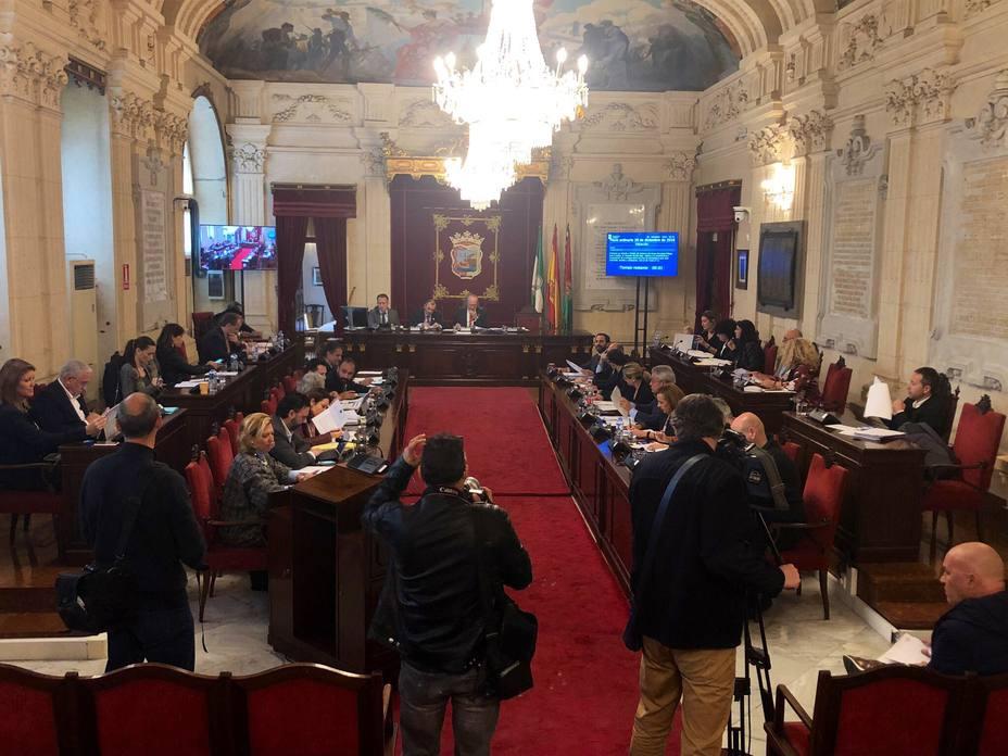 Pleno ayuntamiento de Málaga
