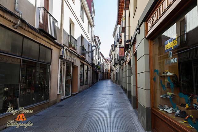 Calle Azabachería de León.