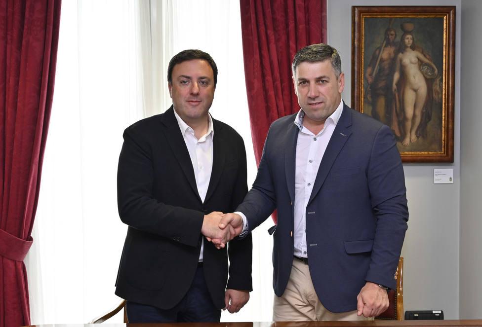 Valentín González Formo y Ángel Alvariño