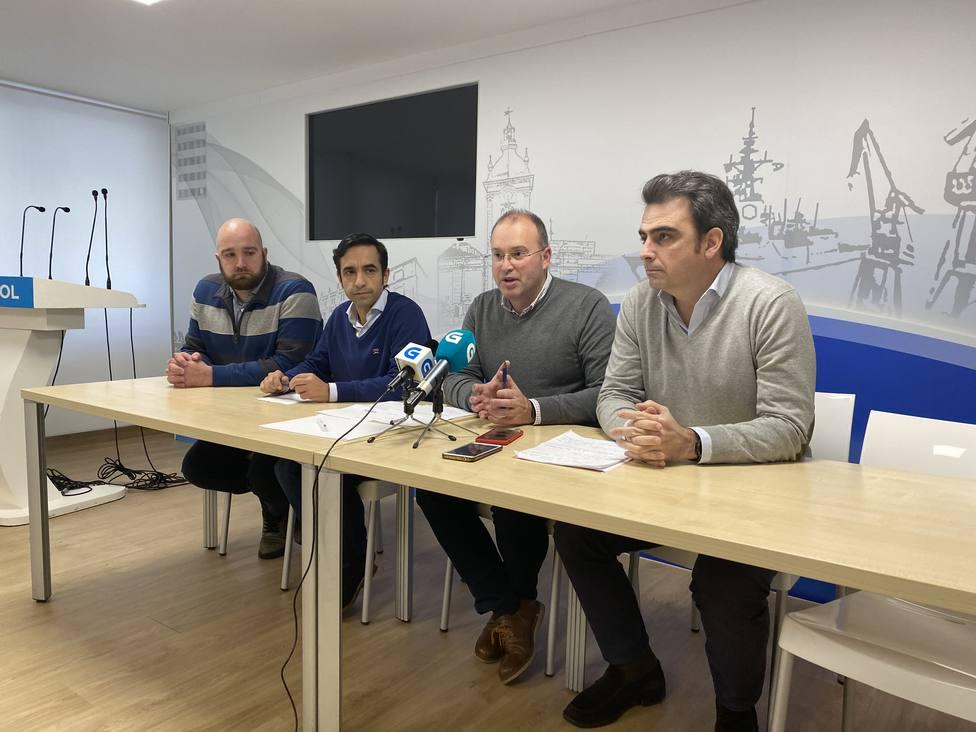 Foto de archivo Acosta, Rey Varela, Tellado y Calvo en rueda de prensa - FOTO: PP