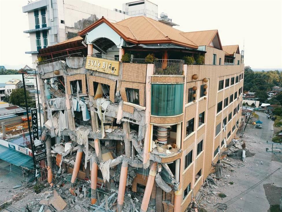 Edificio destruído por el terremoto de 6.5 º que afectó a Filipinas el 31 de octubre de 2019
