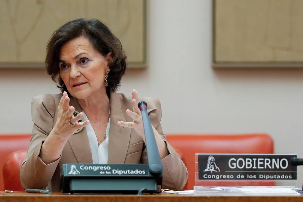 Carmen Calvo inicia este martes las comparecencias de la Comisión de la Reconstrucción