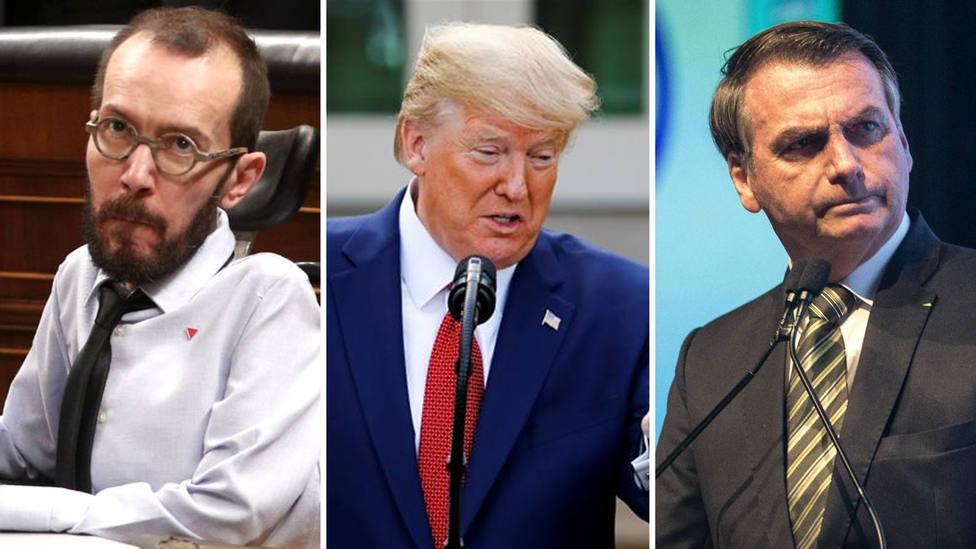 """Echenique critica a Trump y Bolsonaro, y le responden: """"Estás definiendo la gestión de Sánchez e Iglesias"""