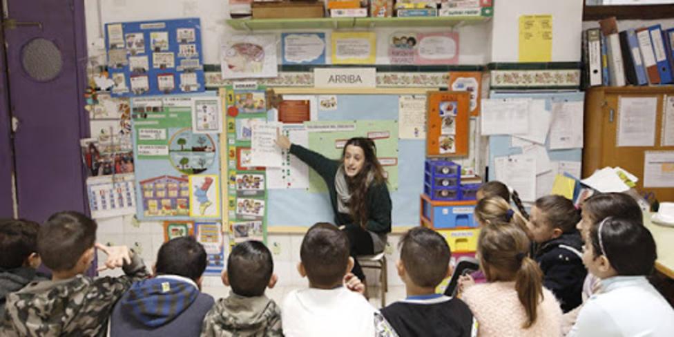 Imagen de archivo de una clase en el colegio Santiago Apóstol