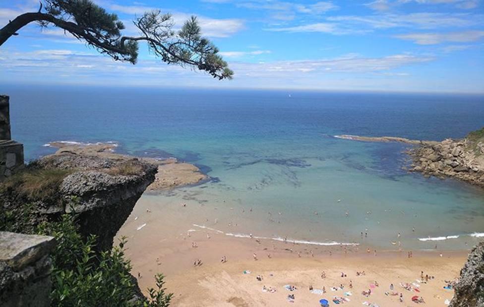 Playa de la Ñora vista desde el mirador