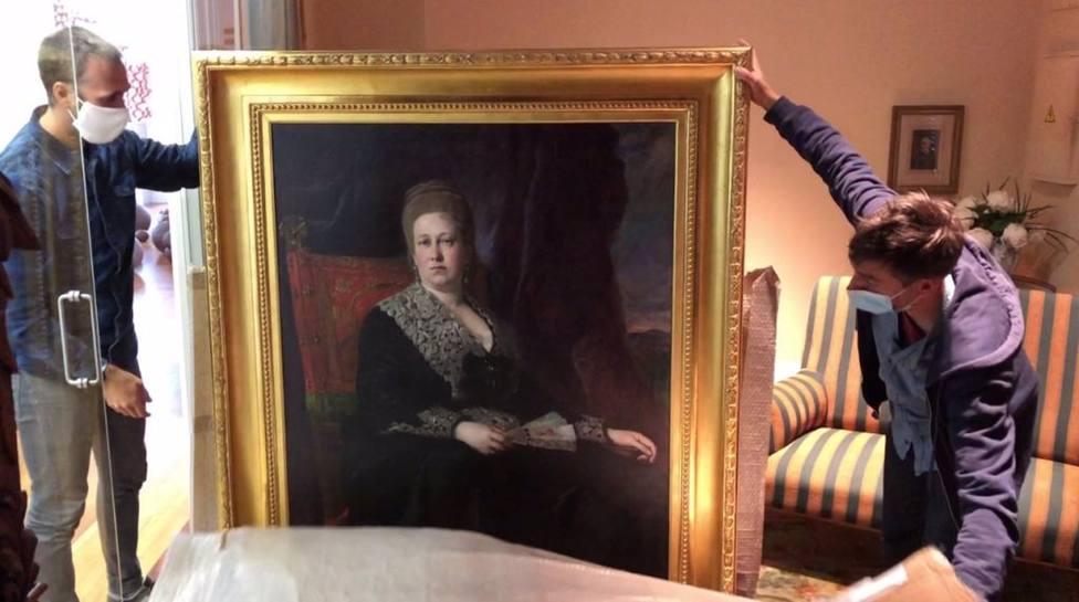 Los cuadros de los Duques de Mandas vuelven al palacio de Cristina Enea seis meses después del robo