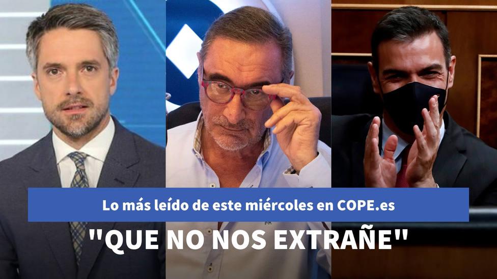El augurio de Herrera sobre cómo gestionará Sánchez la vacuna del covid, entre lo más leído de este miércoles