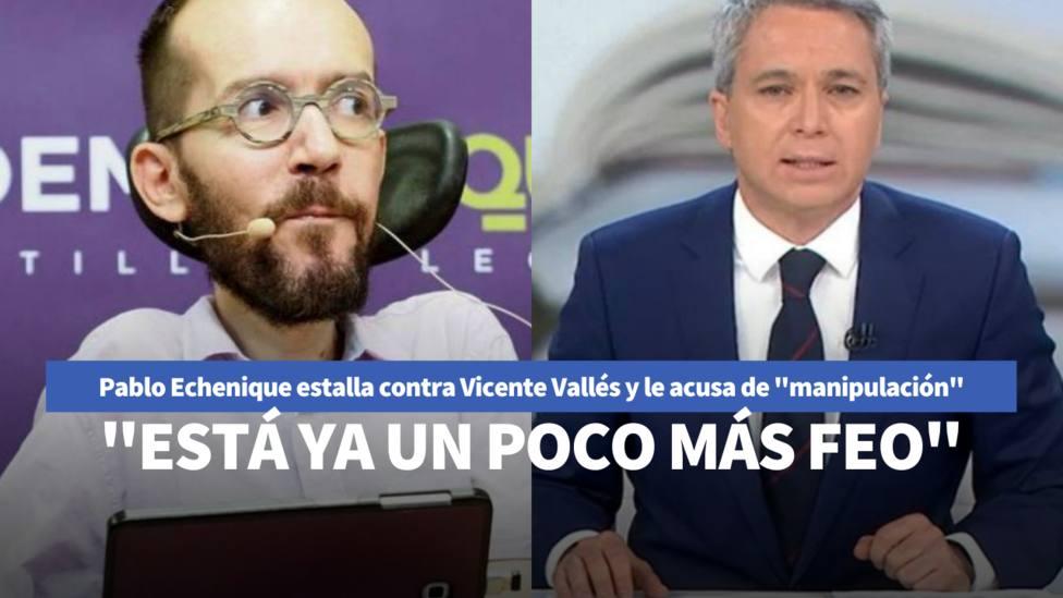 Pablo Echenique responde a Vicente Vallés