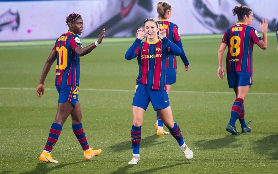 El Barça femenino golea al Rayo Vallecano _(@FCBfemeni)
