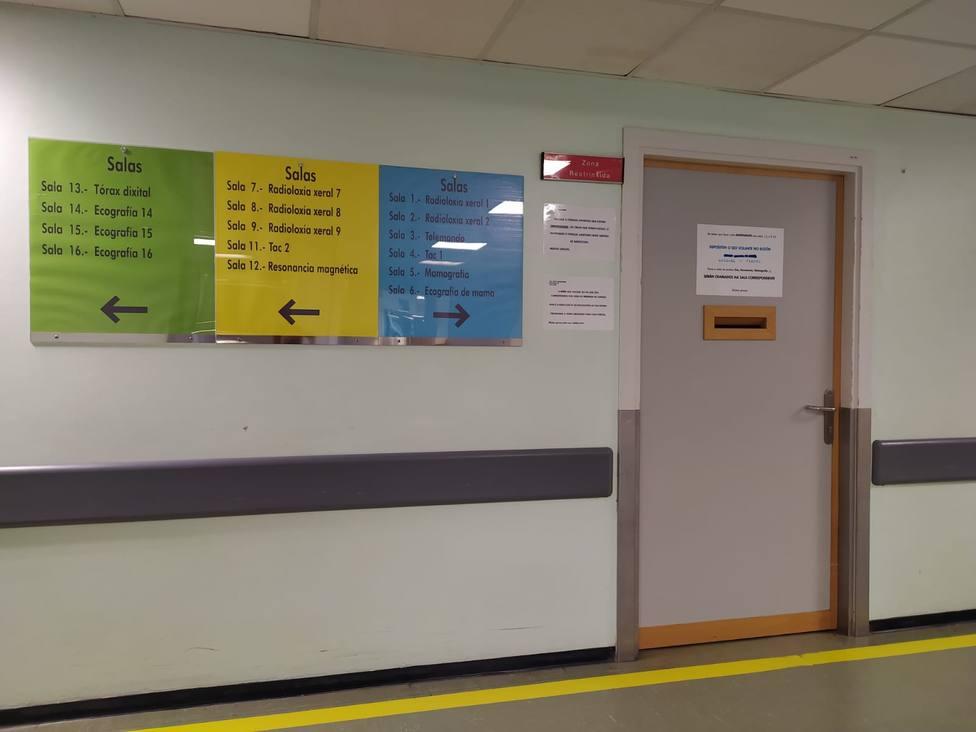 Zona de Radiología del Hospital Arquitecto Marcide
