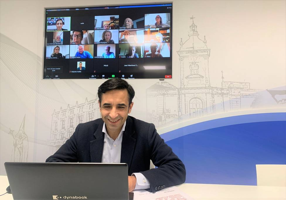 José Manuel Rey Varela, presidió el Comité Ejecutivo Local de manera telemática. FOTO: PP Ferrol