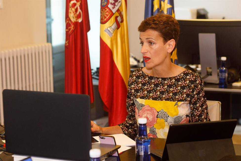 María Chivite, presidenta de Navarra