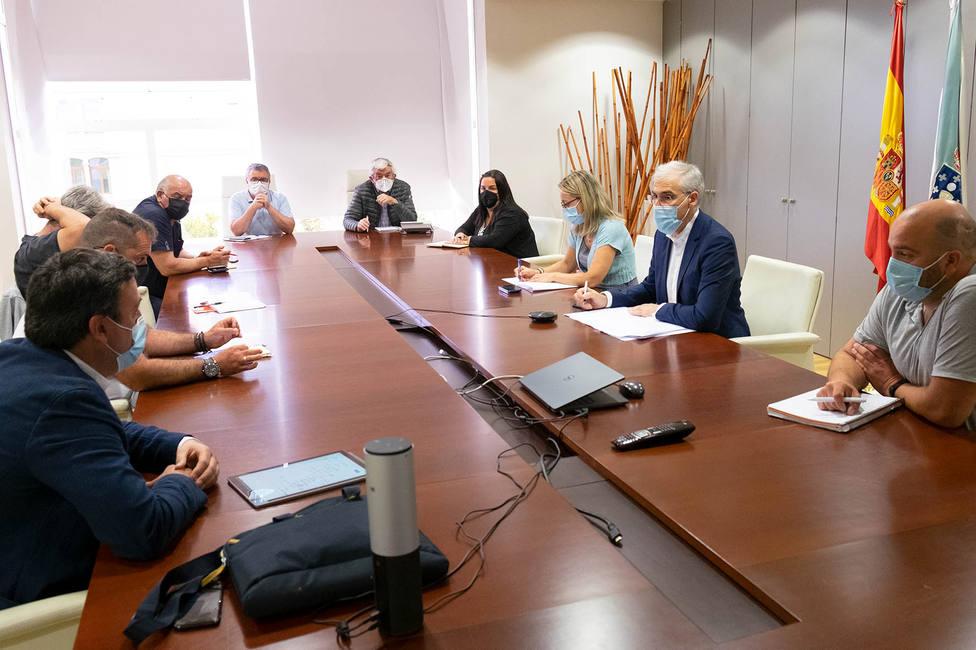 Francisco Conde se reunió con el grupo de trabajo para una Transición Justa de As Pontes. FOTO: Xunta