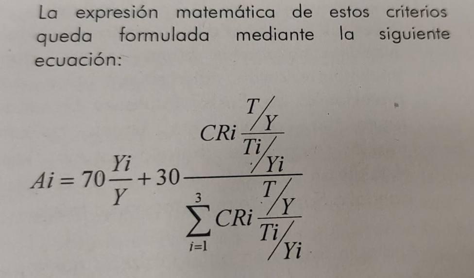 Nueva fórmula del cálculo de la nueva ley de aportaciones