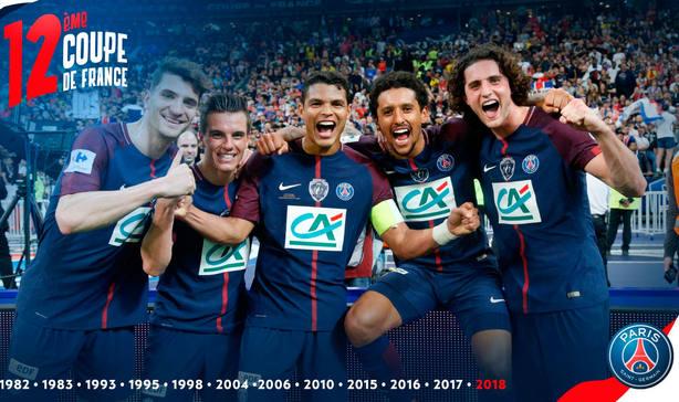 El PSG celebra la conquista de su 12ª Copa de Francia