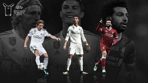 Cristiano, Modric y Salah