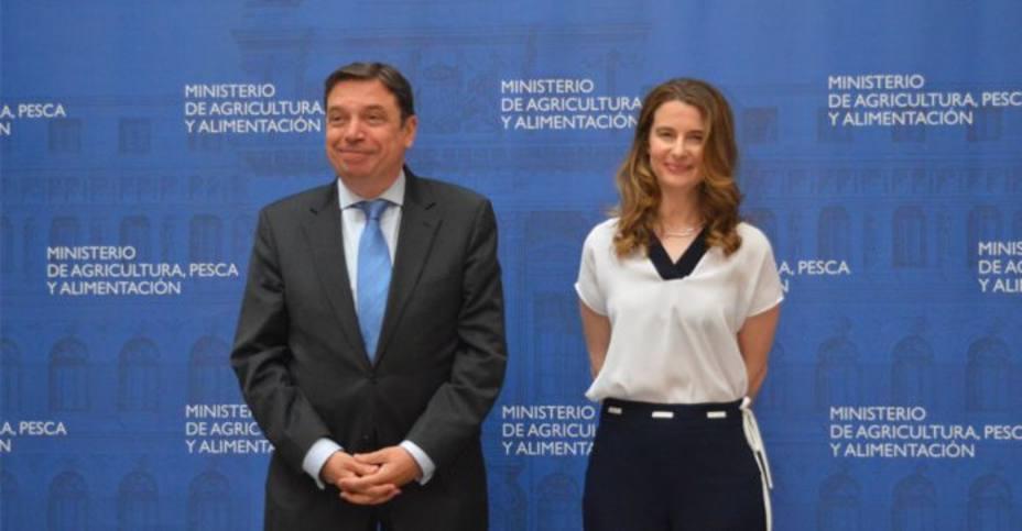 Luis Planas, ministro de Agricultura, y María Dolores Ocaña, subsecretaria