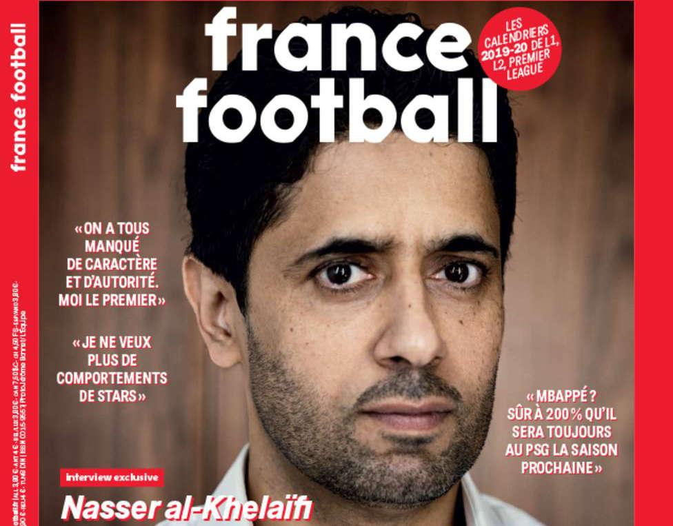 Portada France Football Nasser Al-Khelaifi