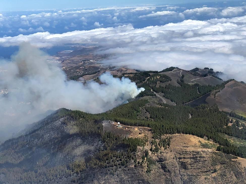 Agricultura envía medios de extinción al incendio declarado en Gran Canaria