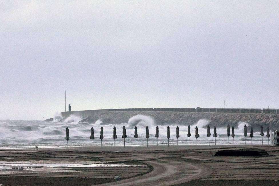 Imagen de la gota fría en el Mediterráneo
