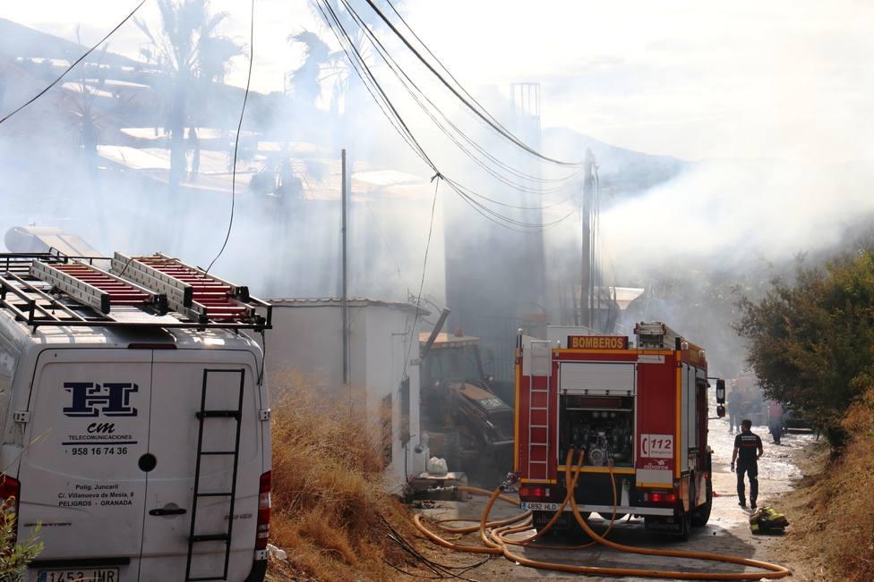 incendio en granja de Molvízar