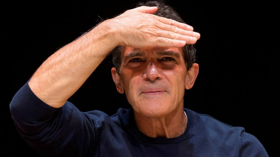 Antonio Banderas en la presentación de A Chorus Line en el Teatro del Soho de Málaga