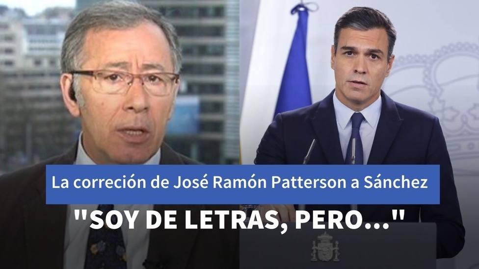La corrección de José Ramón Patterson, corresponsal de TVE, a Sánchez por su última lección de economía