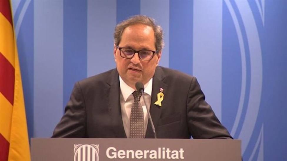 Torra compara a España con China y pide a Pedro Sánchez que cese las hostilidades