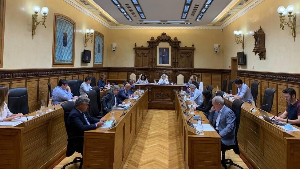 Salón de Plenos del Ayuntamiento de Gijón