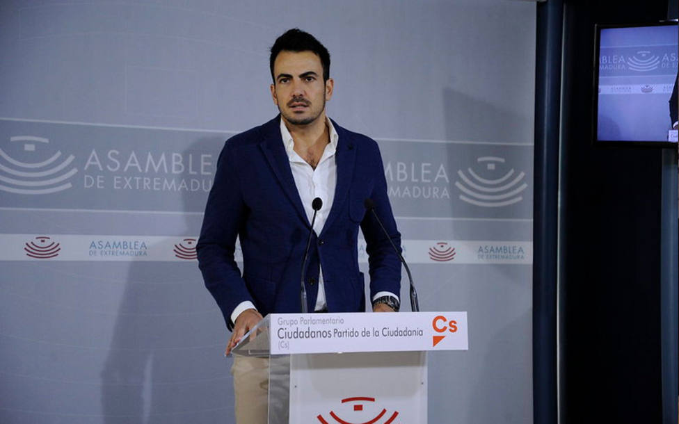 David Salazar, nuevo coordinador de Ciudadanos en Extremadura. Foto: Asamblea Extremadura