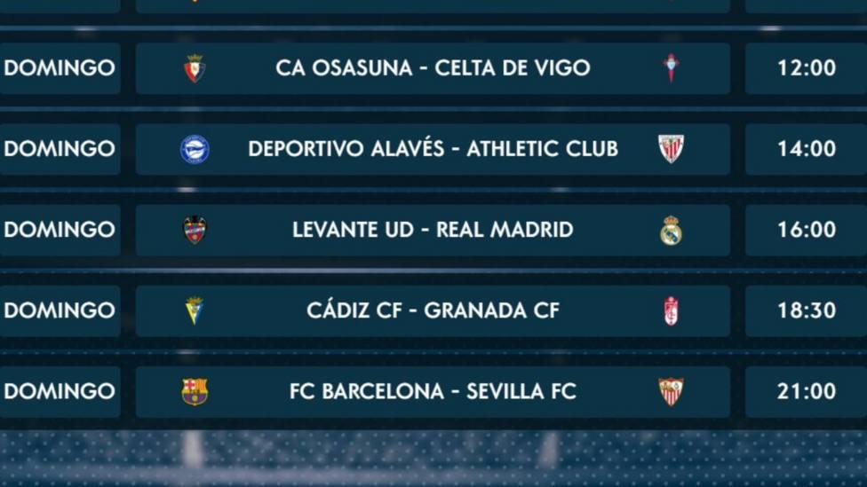 Sigue este domingo desde las 12.00h en Tiempo de Juego la 5ª jornada de LaLiga Santander
