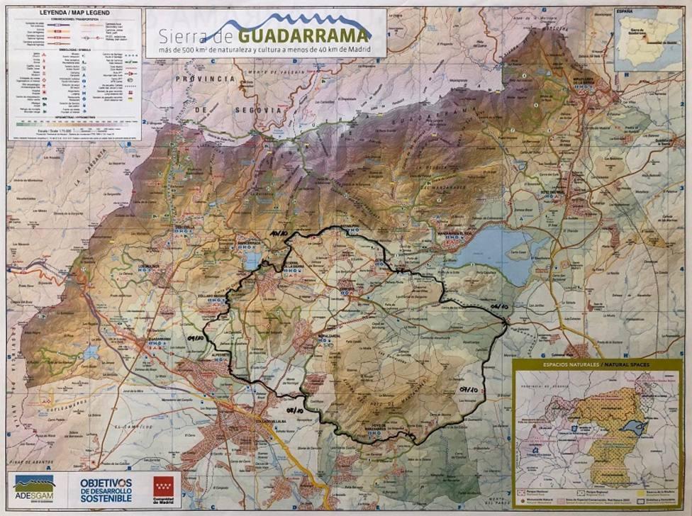 Mapa con la ruta que hará el rebaño de la Trashumancia por la Sierra