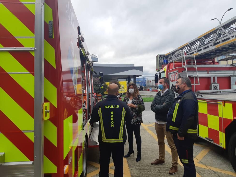 Nuevo vehículo del Servicio de Prevención, Extinción de Incendios y Salvamento de Narón. FOTO: Concello Narón