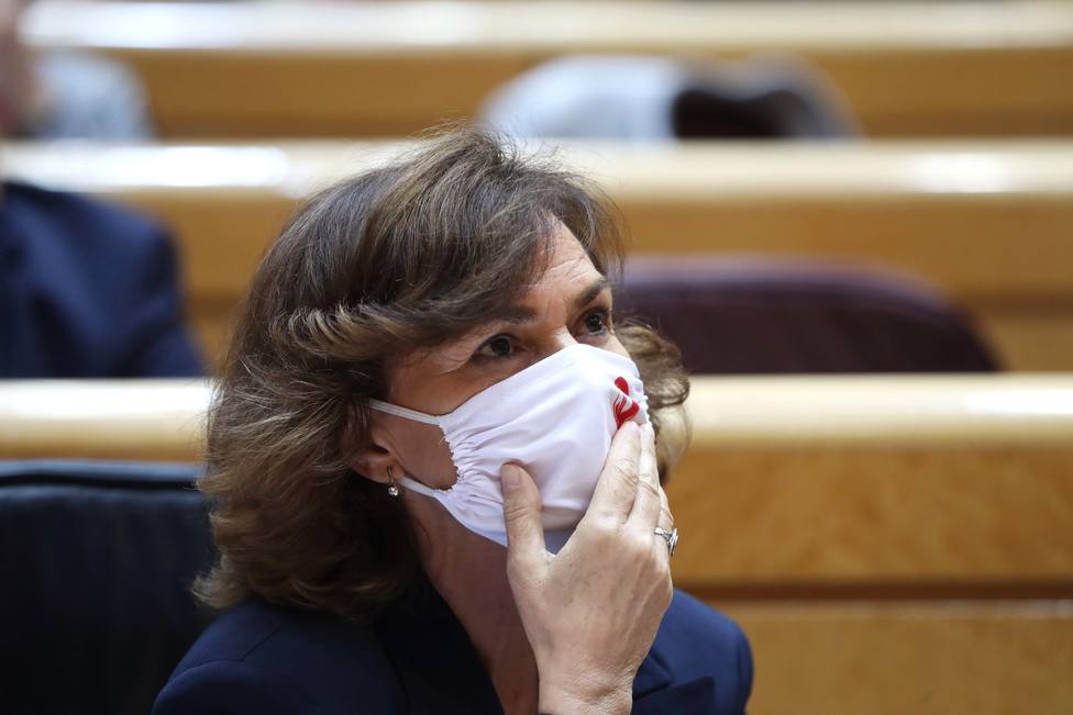 Carmen Calvo admite que ha habido dificultades para gestionar la crisis migratoria de Canarias