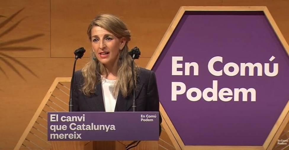 Yolanda Díaz (UP) pide a los socialistas votar a los comuns para cambiar la vida de la gente