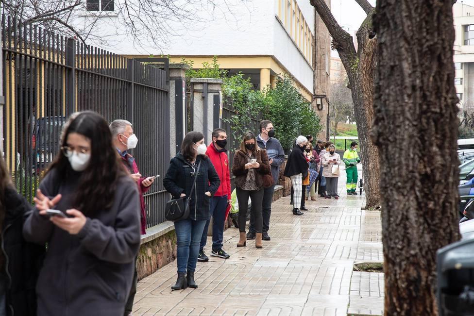Cribado masivo en un centro de salud de Badajoz