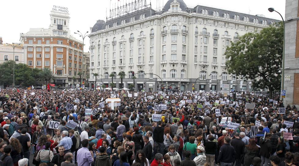 Marcha Rodea el Congreso de 2012