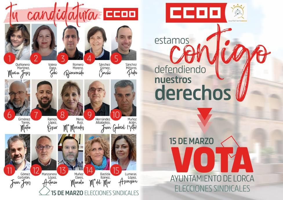 CCOO no participará en las elecciones sindicales del Ayuntamiento al presentar la candidatura fuera de plazo