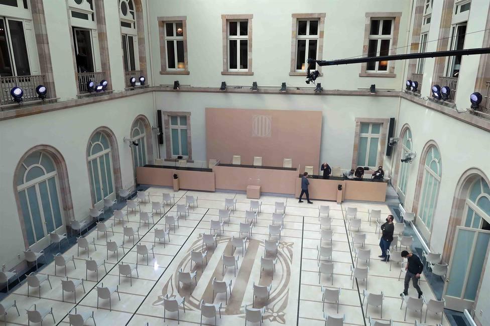 Auditorio del Parlament preparado para celebrar el pleno de constitución de la XIII legislatura - PARLAMENT