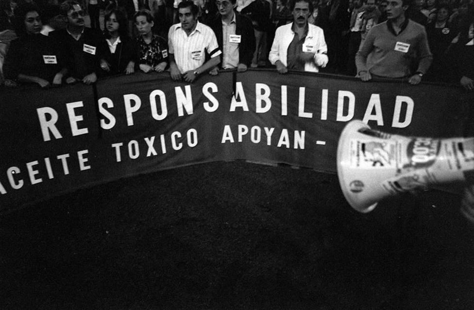 Una imagen de la protesta por el escándalo del aceite de colza