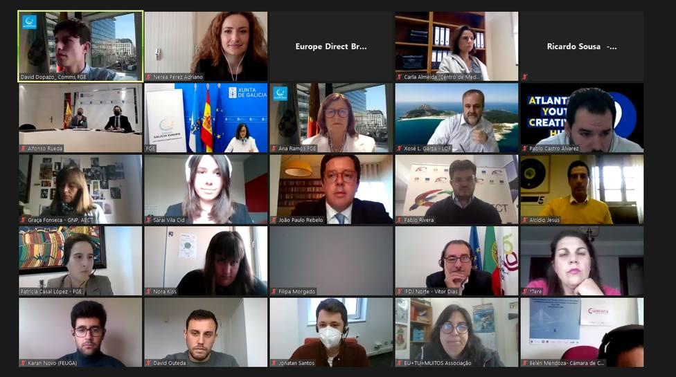 Participantes en la celebración del Día de Europa
