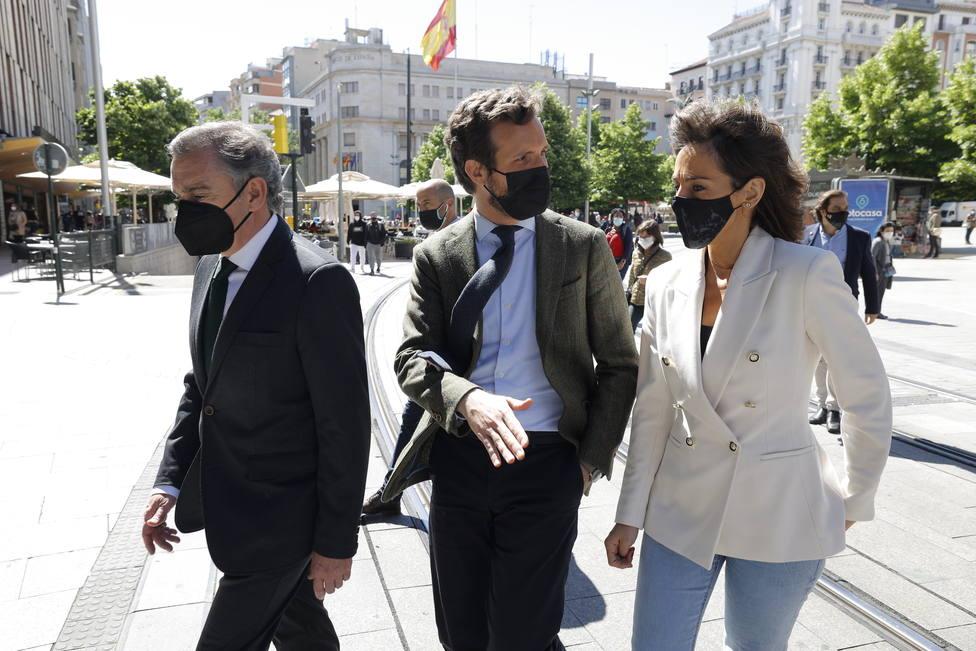Pablo Casado visita Zaragoza. Imagen de archivo