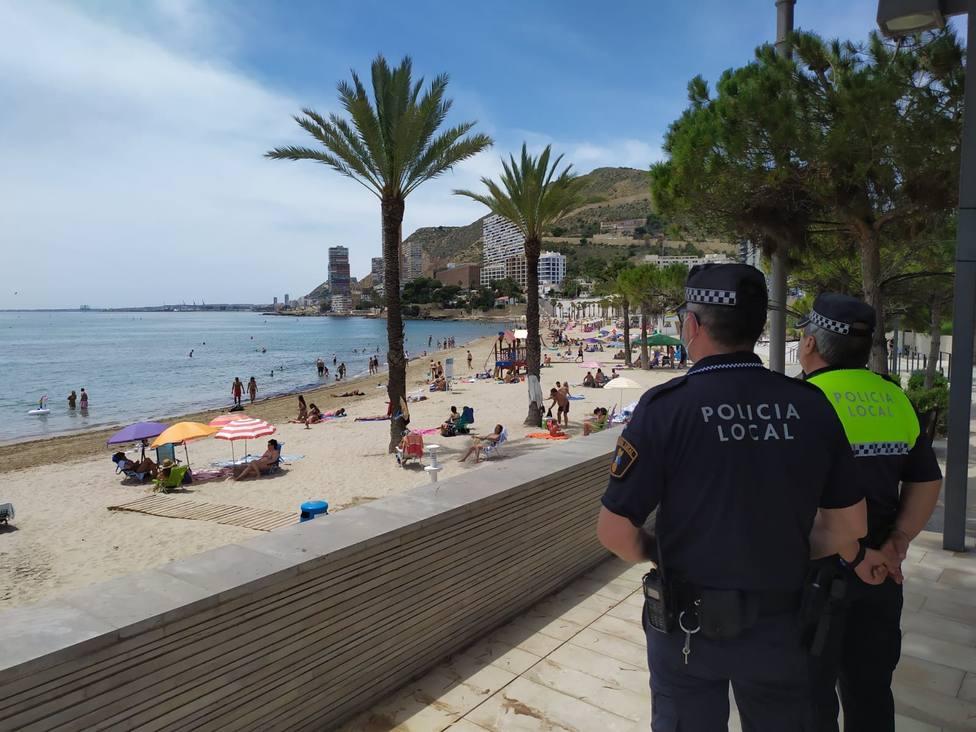 Las sanciones por desobediencia bajan en Alicante por tercer fin de semana consecutivo